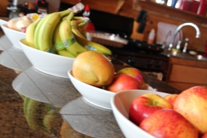 You always gotta have your fresh fruits!