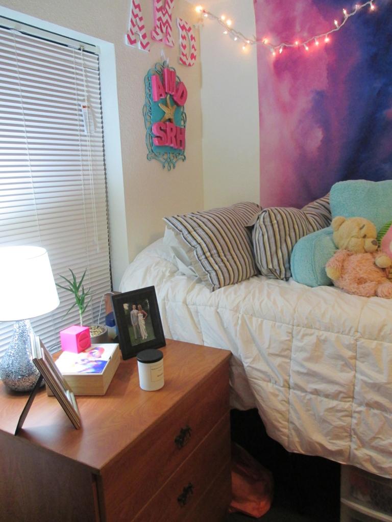 Bedside dresser and Bed